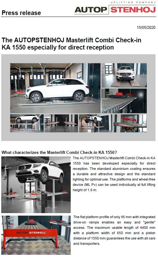 Masterlift combi check in